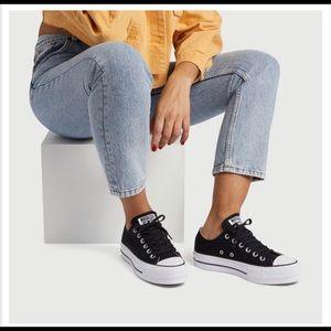 CONVERSE women's lift low top platform sneakers